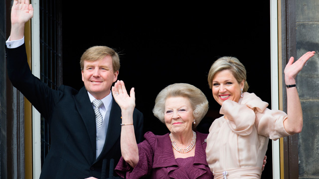 King Willem-Alexander, princess Beatrix and queen Maxima